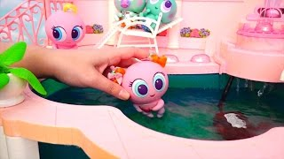 Toys for Kids - Distroller Neonates Toy Babies Have Fun at the Swimming Pool, the Park & McDonald
