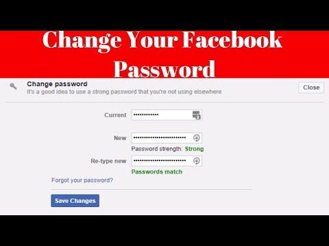 how to change facebook password in computer (windows 10) [2017-2018]