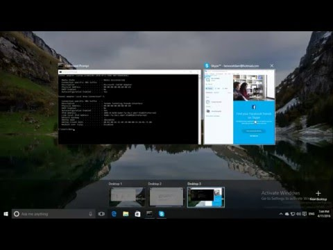 Windows 10 - Use a (Skype) App on every desktop!!