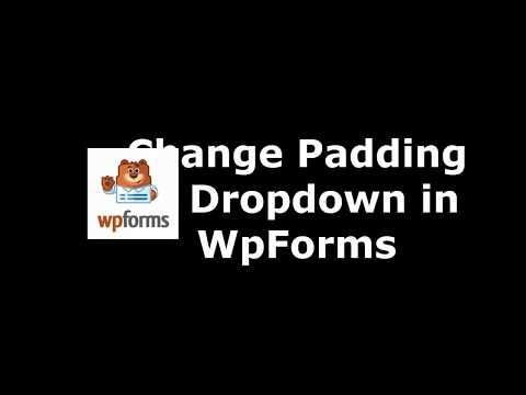 Method to Alter Drop Down Padding in WpForms
