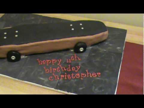 Skateboard Fondant Cake