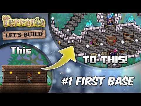 Terraria 1.3 Let's Build Series Ep1: Start with Style! | Terraria house design tutorial