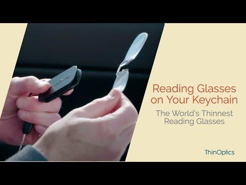 6badfa47191 NEW! ThinOPTICS Keychain with Reading Glasses