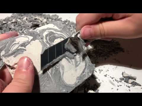 Black and White Marbling - Baking Soda, Chalk, and Calcium Carbonate