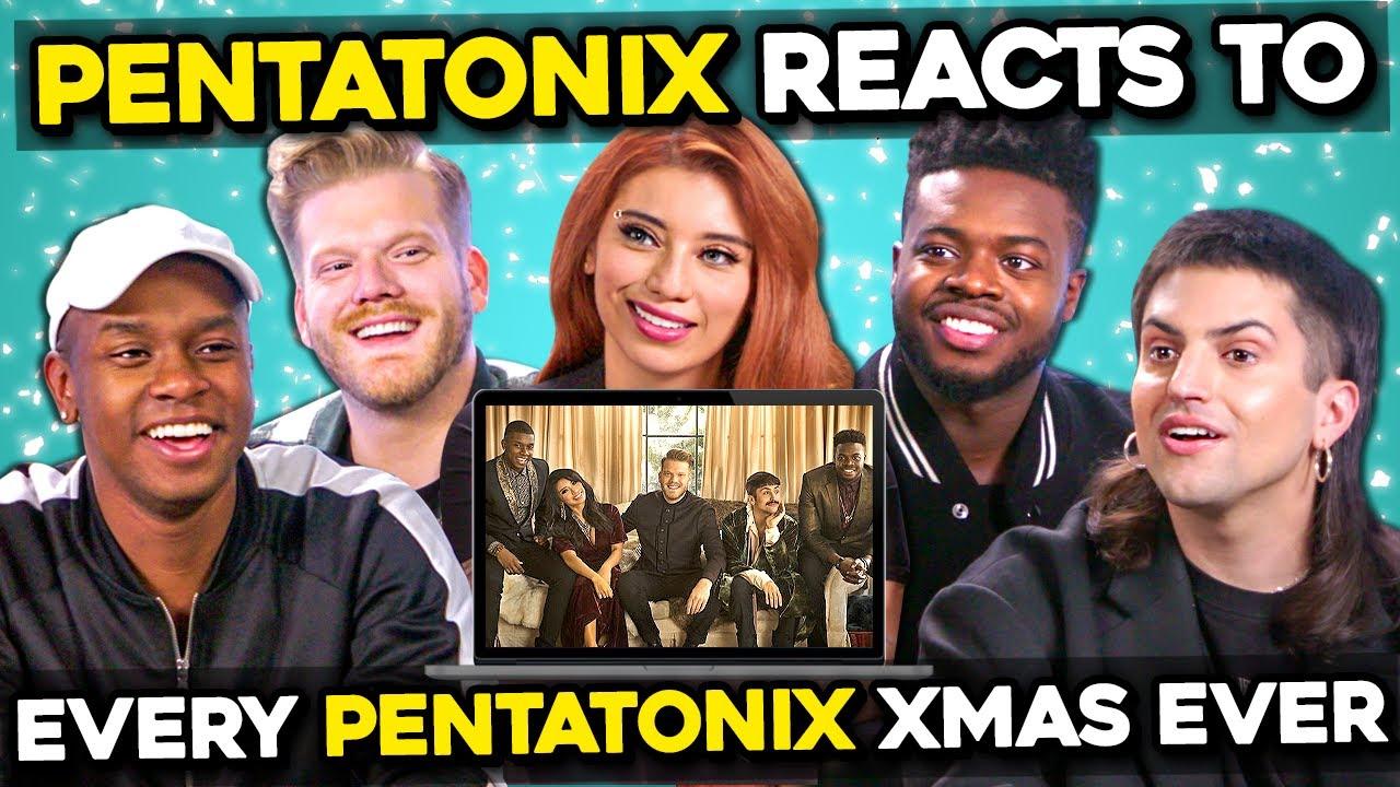 Pentatonix Reacts To Pentatonix Christmas Songs Through The Years