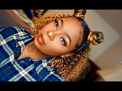 Jamaican Bounce Crochet   Half Up Half Down   Braidless Crotchet   ft Leeven Hair Specialty Store