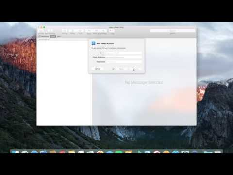 How to set up a POP3 email account on a Mac