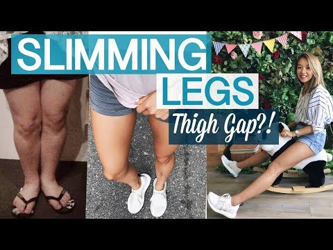 HOW I TONED/SLIMMED MY LEGS  |  BULKING? Thigh Gap?!