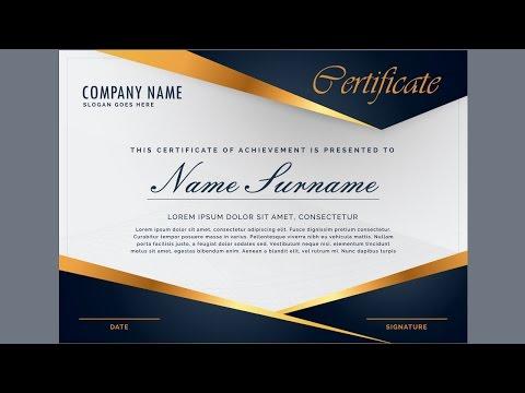 Creating a Professional Certificate Design using Guides - Coreldraw Tutorials