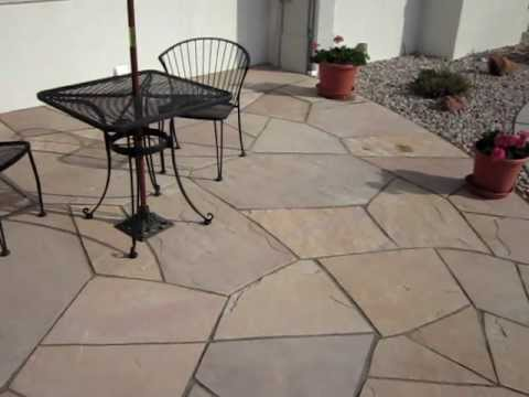 Flagstone patio complete Installing a flagstone patio Part 3