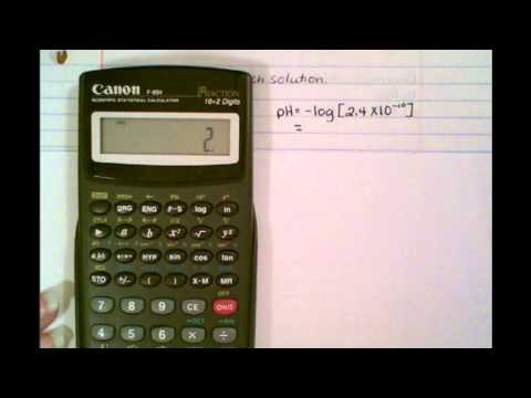 Calculating pH