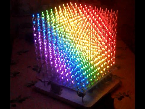 10x10x10 3D RGB LED CUBE (part3) ** How does it work? **