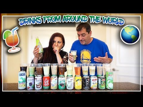 TRYING DRINKS FROM AROUND THE WORLD!!