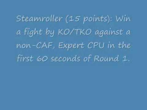 UFC Undisputed 2010 Achievements (cheat codes)