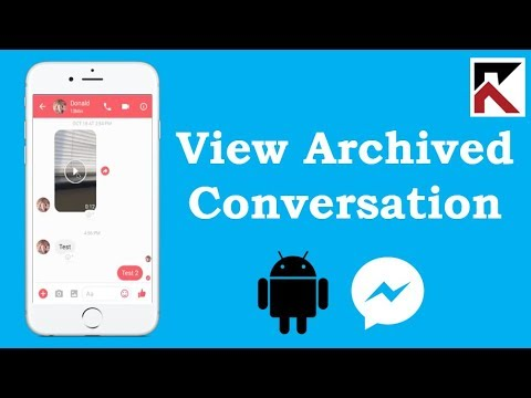 How To View Archived Conversations Facebook Messenger Android