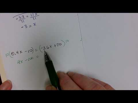 Solving for the variable