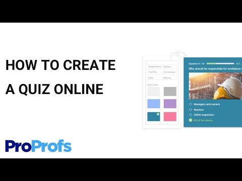 How To Create A Quiz In Proprofs Online Quiz Maker
