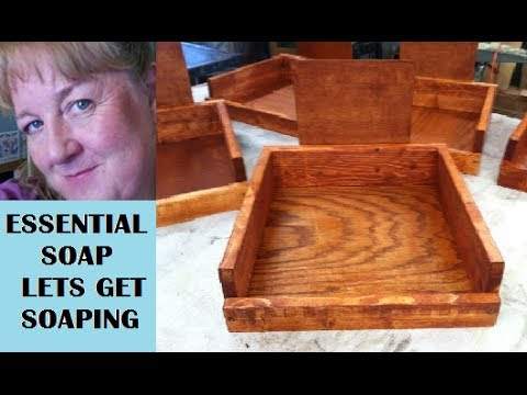 How to Make Soap Display Boxes in the Wood Shop like Soap Molds with Essential Soap