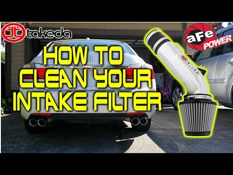 DIY: How to Clean Your Intake Filter (Takeda Stage 2 Pro DRY S) Honda Accord