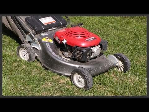How to change the lawnmower cutting blade