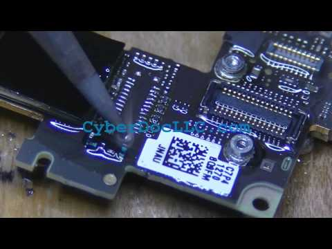 iphone 4s lcd connector no image broken pins soldering repair replacement #2 CyberDocLLC