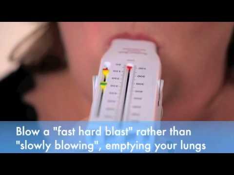 How to use a peak flow meter.