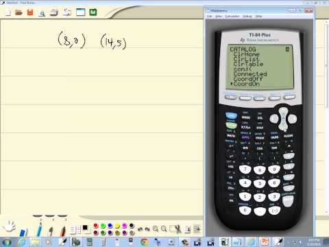 Technology in College Algebra - Linear Equations - Finding Slope - TI-84 Plus