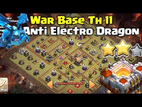 Clash of clans ll War Base Th 11 Anti Electro Dragon ll