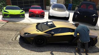 GTA 5 - Stealing Luxury Cars with Franklin!| (Real Life Cars #86)