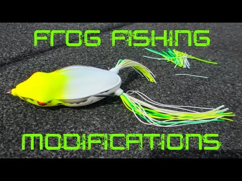 Frog fishing modifications, tips, and tricks to catch more bass