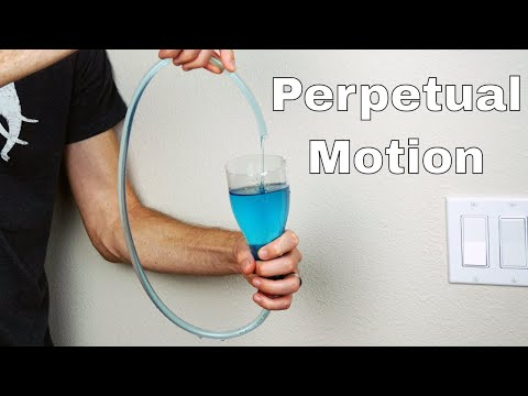 Boyle's Self-Flowing Flask Filled With Polyethylene Glycol (Self-Pouring Liquid) = Perpetual Motion?