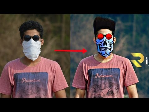 Picsart || How to make Skeleton Look on kerchief facemask With Transparent Effect, PicsArt Tutorials