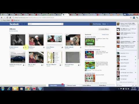 How to make facebook albums or pictures private May 2012