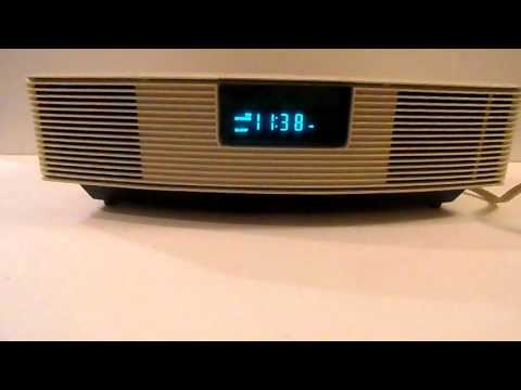 Bose Wave Radio AWR1-1W with Remote White Tested Works Alarm Clock