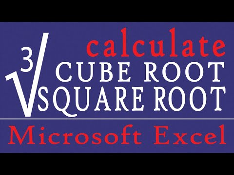 MS EXCEL - CALCULATE SQUARE ROOT ll CUBE ROOT ll  nth ROOT AND SQUARE l WITH WORKING FILE