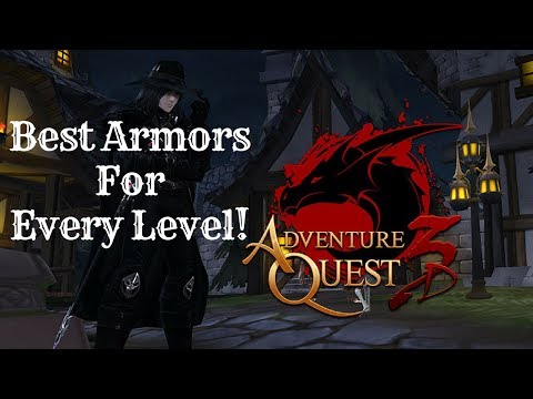 AQ3D Best Armors For EVERY Level! AdventureQuest 3D - PakVim net HD