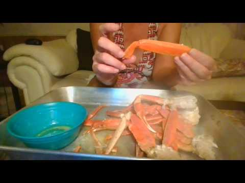 How to crack snow crab legs with the least amount of effort.