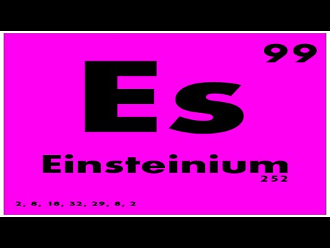 STUDY GUIDE: 99 Einsteinium | Periodic Table of Elements