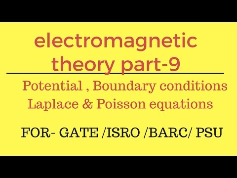Potential , Boundary conditions, Laplace & Poisson equations EMT Part- 9 for gate