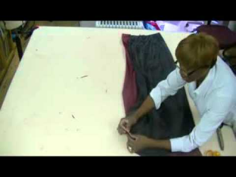 How to make a evening skirt with a back train (tail) part 5