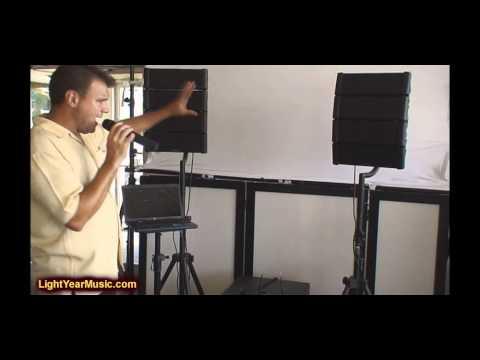 American DJ Line Array Speaker System with Laptop DJ KJ software