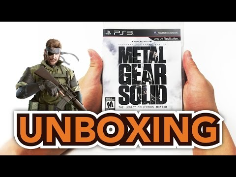 Metal Gear Solid: The legacy Collection (PS3) Unboxing!!