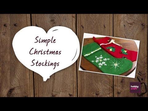 How to make: Simple Christmas Stockings