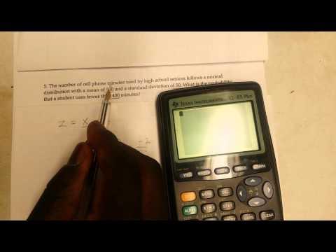 Normal Distribution using TI-83 calculator