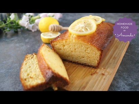 Super Moist Honey Lemon Pound Cake Recipe | Homemade Food by Amanda