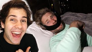 WE DID THIS WHILE HE WAS SLEEPING!!