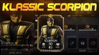 Klassic Scorpion! Mortal Kombat X (MKX) 1.6! IOS Android Gameplay!