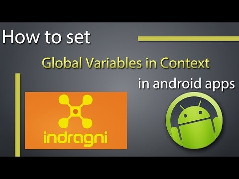 How to set global variables in Application context