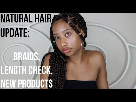 Natural Hair Update (Braids, Length Check, New Products)  Tatyana Celeste ❤︎