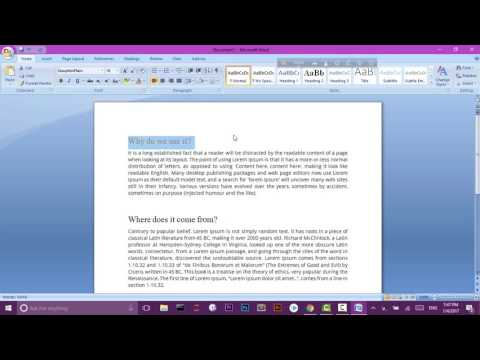 MS Word 03 - Advance Selection - Font Color - Highlighting.mp4